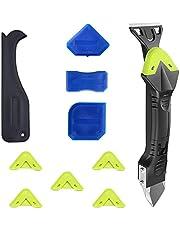 Drevning Tool Kit 5 i 1 Silicone Glass Lim Angle ScrapeSealant Removal Tool Kit för fogar motorvägsbro i Kök Badrum 10PCS, Handdrivna verktyg