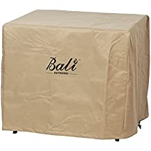 Bali Outdoors Square Durable Brown Gas Fire Pit Cover, 30 Inch Wide 24 Inch High