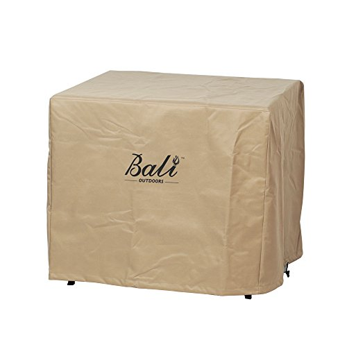 BALI OUTDOORS Square Durable Brown Gas Fire Pit Cover, 30.7 Inch Wide 24.6 Inch High