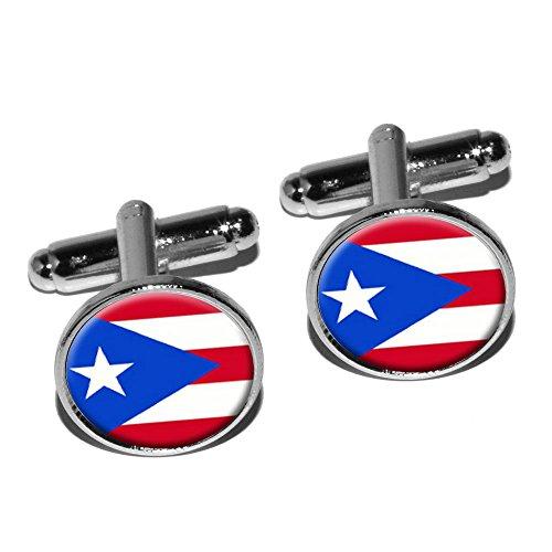 Puerto Rico Rican Round Cufflink