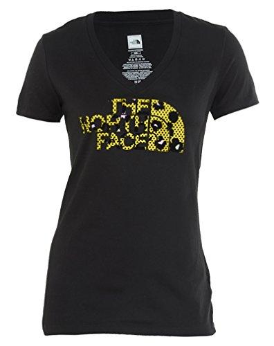 Face neck V Leopard Womens Tee North Logo Cjr5 Style CwxdcS