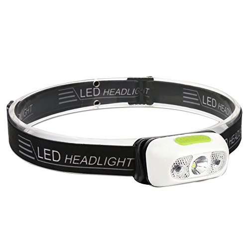 Boruit LED Headlamp CREE XP-G2 500LM Motion Sensor Headlight Flashlight 4 Lighting Modes with SOS Rechargeable Waterproof USB Headband light for Camping Running Reading Kids Fun Toys Torch Light (B6)