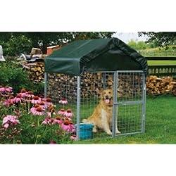 ShelterLogic Dog Kennel, 66- Inch Peak Height, Wall Dimensions 4 x 4 x 45- Feet