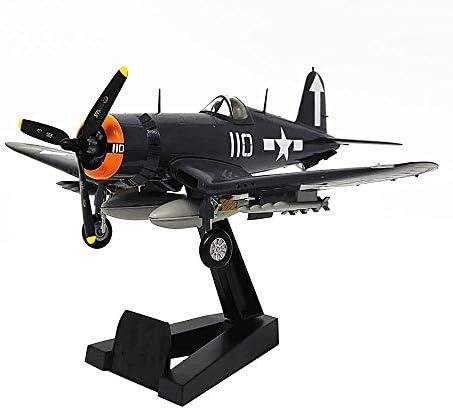 1/72スケール航空機モデル、軍事F4U-1キャリアファイターモデル、子供のおもちゃやギフト、6.8Inch X5.7Inch