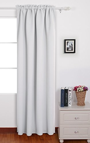 Deconovo Greyish Blackout Curtains Insulated