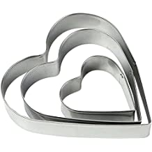 LRZCGB Cookie Cutter Shape Heart Star Flower Decorating Mold Kitchen Stainless Steel Bakeware Tools (Heart)