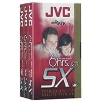 JVC T120Du3 120-Minute Vhs Video Tape (3-Pk)