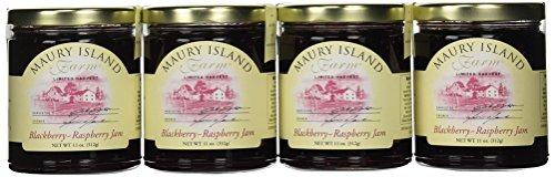Blackberry Raspberry Jam, Gourmet 11 oz Jar - All Natural - by Maury Island Farms (Pack of 4)