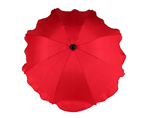 BABY SUN UMBRELLA PARASOL BABY PRAM PUSHCHAIR BUGGY CANOPY PROTECT FROM SUN/RAIN (Red) Babymam