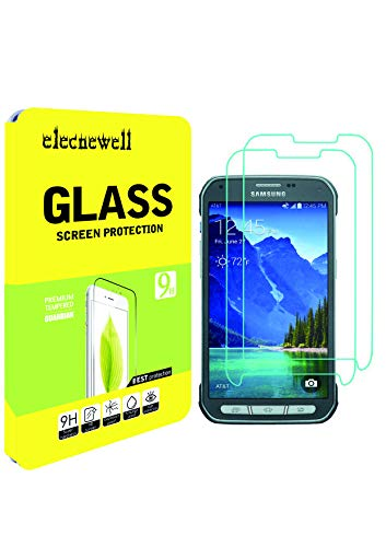 [2 Pack] Galaxy S5 Active Screen Protector, NEWELL™ 0.26mm Premium Tempered Glass Screen Protector for Samsung Galaxy S5 Active Bubble-free Anti-Scratch Anti-Fingerprint Guard Cover