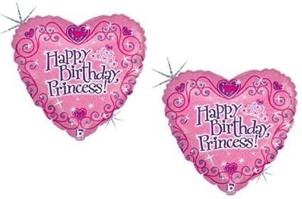 Amazon.com: loonballoon Princess Tiara Feliz cumpleaños ...