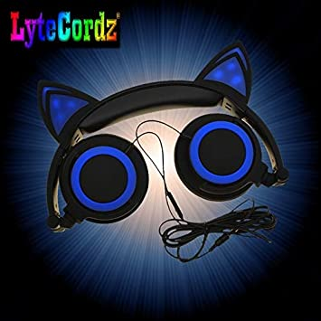 Amazon Com Lytecordz Kitty Cat Ear Kids Light Up Led Headphones