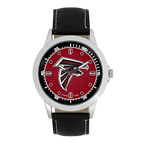 Watch Sport Mens Nfl (NFL Atlanta Falcons Mens Player Series Wrist Watch, Silver, One Size)