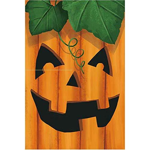 GiftWrap Etc. Jack-O-Lantern Face Halloween Garden Flag - 12