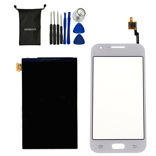 Lcd Lens Display - Sunways Touch Digitizer Glass Lens Screen Replacement + LCD Display Digitizer Screen For Samsung Galaxy J1 J100(White)With device opening tools