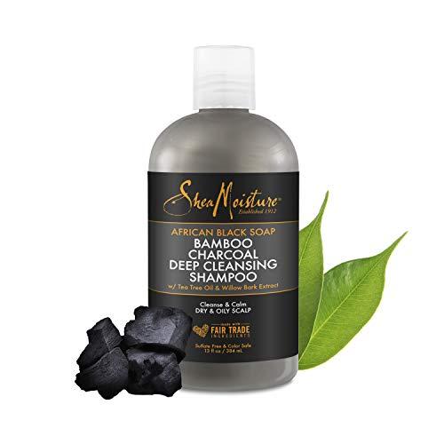 Shea Moisture African Black Soap Bamboo Charcoal Deep Cleansing Shampoo