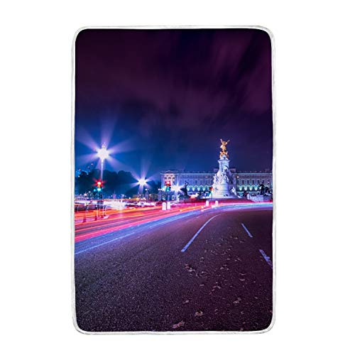 YSKHDBC Pall Mall London United Kingdom Evening Crystal Velvet Luxury Blanket Lightweight Cozy Microfiber Solid Blanket 60 × 90 Inch