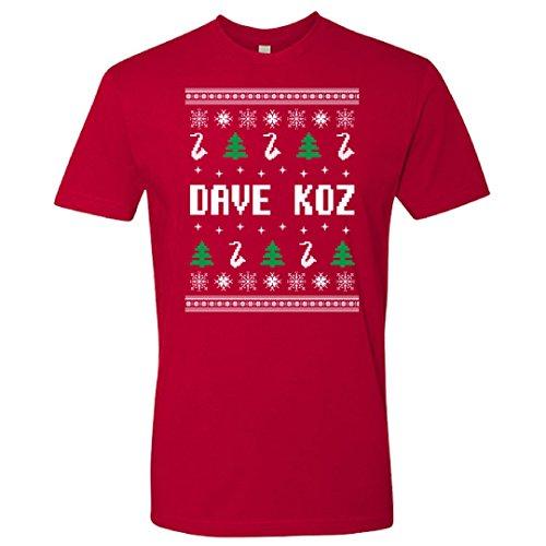 Dave Koz Ugly Sweater Holiday Tee (Medium)