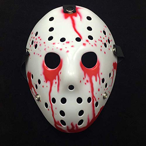 JLYSHOP Scary Mask Halloween, Halloween Mask, Terror Bloody Jason Voorhees Freddy Hockey Festival Party Mask, Halloween Masquerade Mask ()