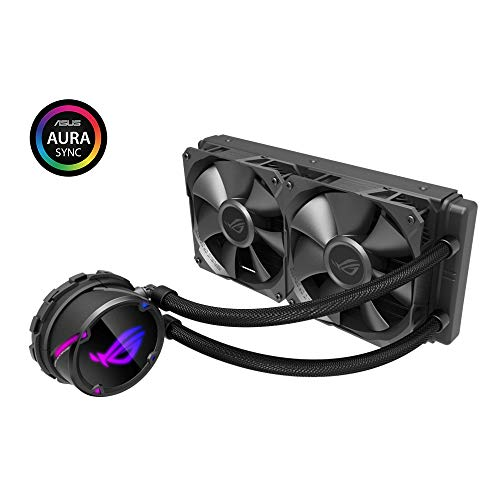 (ROG Strix Cooler CPU All-in-one ROG, with addressable RGB Lighting, Aura sync, NCVM Pump Coating and ROG Radiator Fan 2X ROG Fan 120)