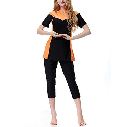 Orange Ragazze Beachwear Modesto Burqini A001 Musulmano Swimwear Muslim Costume Burkini Bagno Copertura Zhhlaixing Da Donne Completa qT7nZERaw