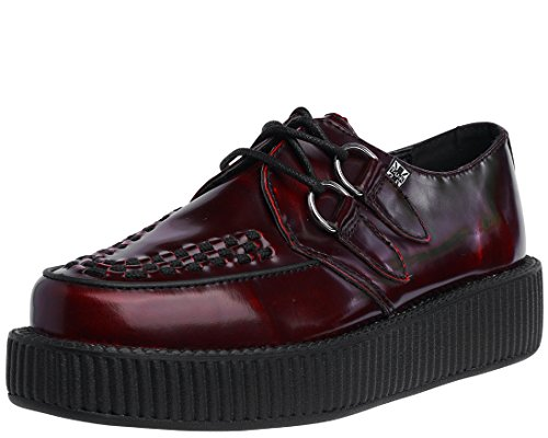 T.U.K. Women's Burgundy Rub Off Creeper, 11 M US