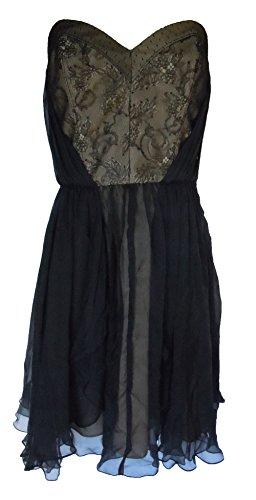 ABS Allen Schwartz Women's Evening Cocktail Strapless Dress Size 10 (Abs Strapless Party Dress)