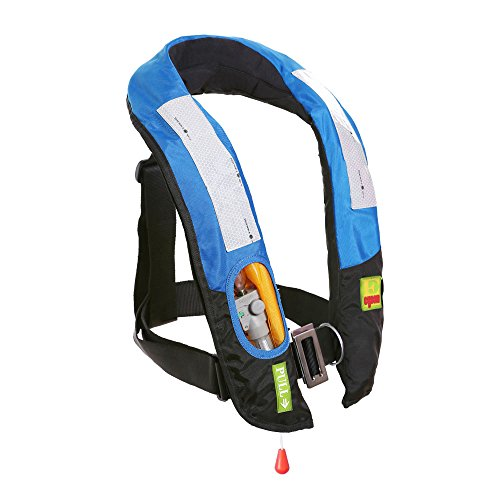 Eyson Inflatable Life Jacket Life Vest Highly Visible Manual (Blue) ()