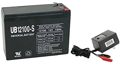 12V 10AH Replaces HE12V127 HGL1012 LCRB1210P NEUTON CE5 Battery WITH CHARGER