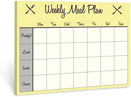 Jot & Mark Weekly Meal Planner Pad | Magnetic Pad for Kitchen Refrigerator (50 Sheets)