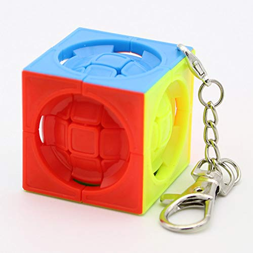 Aoile Mini 3x3x3 Magic Cube Toy Kids Anti-Stress Educational Puzzles Keychain ()