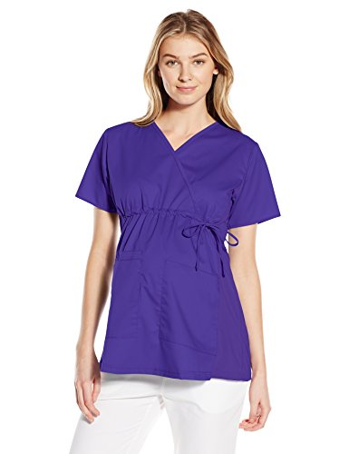 WonderWink Women's Wonderwork Maternity Top, Grape, Medium
