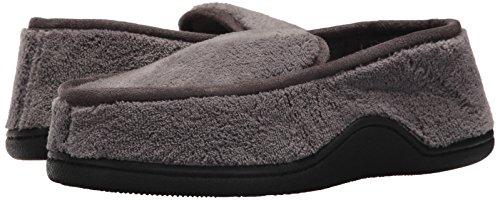 ISOTONER Men's Terry Moccasin Slipper with Memory Foam for Indoor/Outdoor Comfort