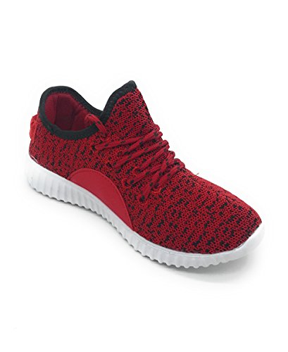 Blue Berry EASY21 Women Casual Fashion Sneakers Breathable Athletic Sports Light Weight Shoes Red/Black 8GXfhe4wBu