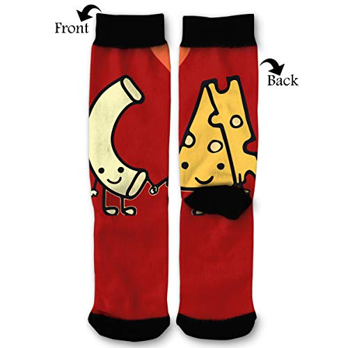 Macaroni Cheese Love Men & Women Casual Cool Cute Crazy Funny Athletic Sport Colorful Fancy Novelty Graphic Crew Tube Socks]()