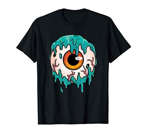 Creepy Slimy Human Eye Ball Halloween Gift T-shirt ()