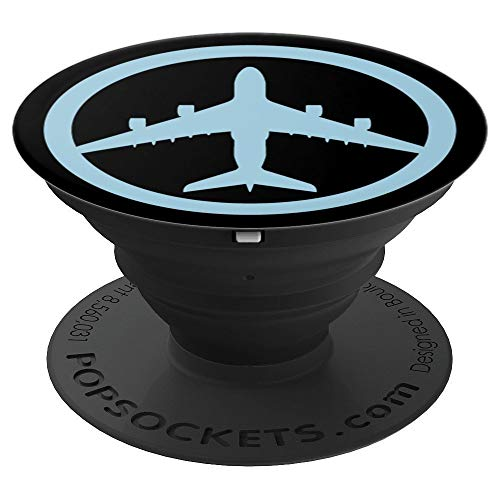 Airbus A380 (Blue) Jet Airplane Pilot Aviation Smartphone - PopSockets Grip and Stand for Phones and Tablets