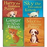Animal Stories Set (4 Books) (Max the Missing Puppy; Sky the Unwanted Kitten; Ginger the Stray Kitten; Harry the Homeless Puppy)