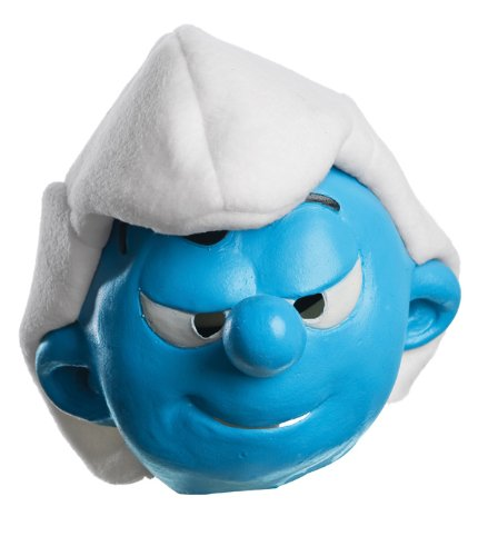 [The Smurfs Movie Child's Mask, Hefty] (Smurf Costume 2 Year Old)