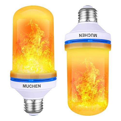 LED Flame Effect Fire Light Bulbs- E26 1 Pack 4 Modes with Upside Down Effect-Flame Bulb for Halloween/Hotel/Bar Party Decoration