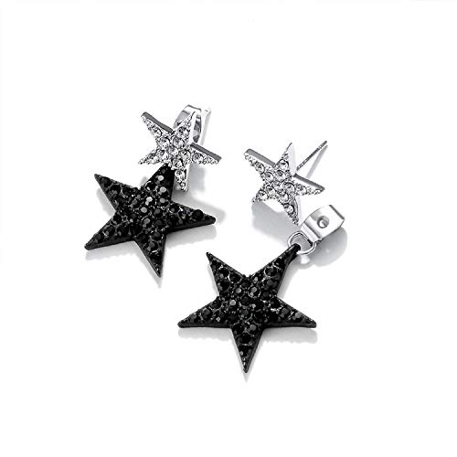 Star Earrings Drop Dangle Earrings Anchilly Eardrops studs Crystal Pave Piercing Earrings