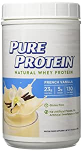 Pure Protein® Natural Whey Powder - French Vanilla, 1.6 pounds