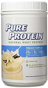 Pure Protein Natural Whey Protein Powder, French Vanilla, 1.6 Pound