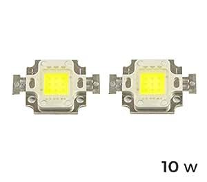 MWS - Lote de 2 placas LED de repuesto para faros LED (10 W, luz fría 6500 K) -