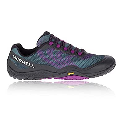 Merrell Women's Trail Glove 4 Shield Black/Purple 6.5 M US