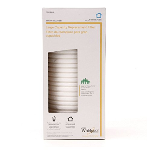 Whirlpool Large Capacity Whole House Filtration Replacement Filter - WHKF-GD25BB, Packaging May Modify