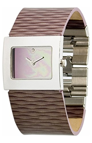 Moog Paris - Sand - Women's Watch with mirror gradual dial, purple strap in Genuine leather, made in France - M41511-007