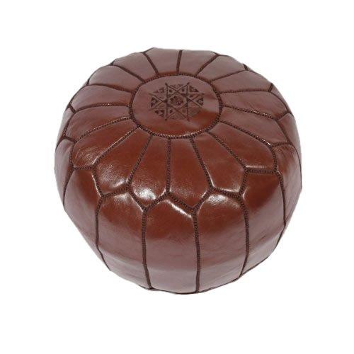 Marokkanisches Leder-Sitzkissen Schokoladenbraun–(gefüllt) 55x 55x 30cm