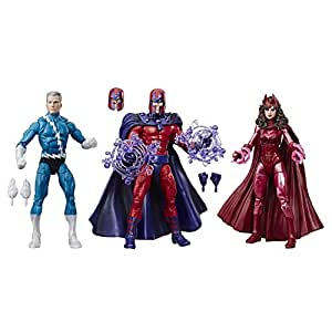 """Marvel Legends Series 6"""" Family Matters 3 Pack with Magneto, Quicksilver, & Scarlet Witch Action Figures (Amazon Exclusive)"""