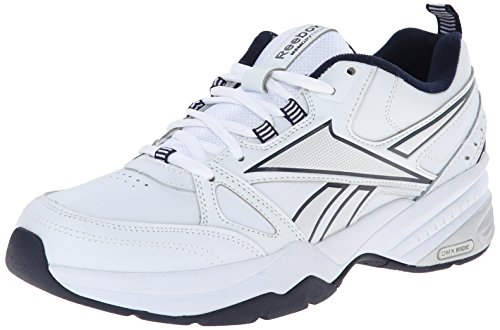 Reebok Men's Royal Mt Cross-Trainer Shoe, White/Collegiate Navy/Pure Silver, 10.5 M US